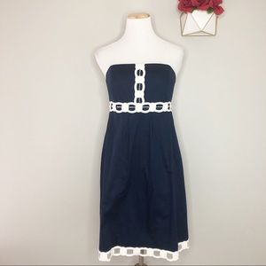 Lilly Pulitzer Navy & White Bead Dress (12)